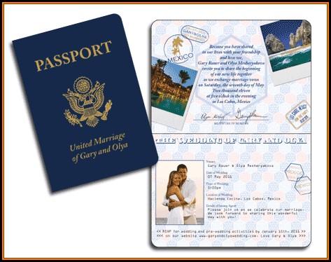 Passport Wedding Invitation Template Free Download