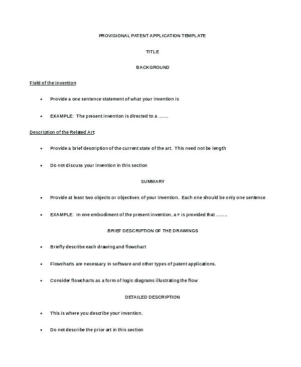 Patent Proposal Template
