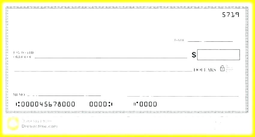Payroll Check Free Blank Check Template Word Document