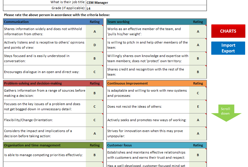 Performance Review 360 Feedback Template