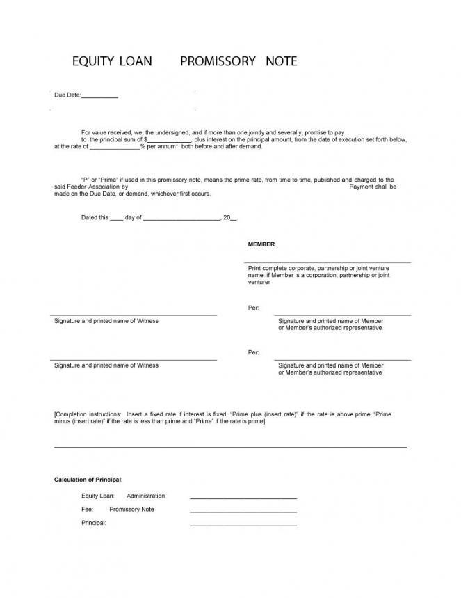 Personal Loan Promissory Note Template