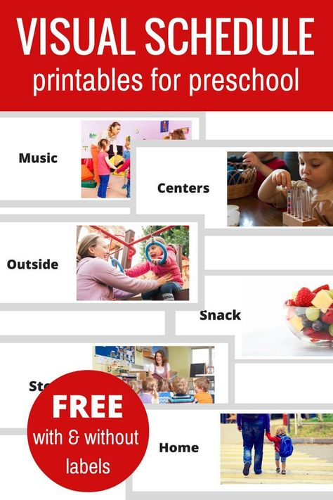 Preschool Visual Schedule Template