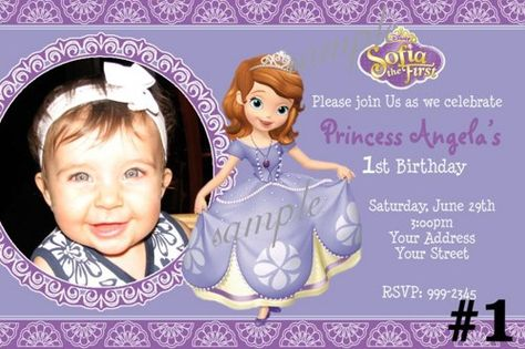 Princess Sofia Birthday Invitations Template Free