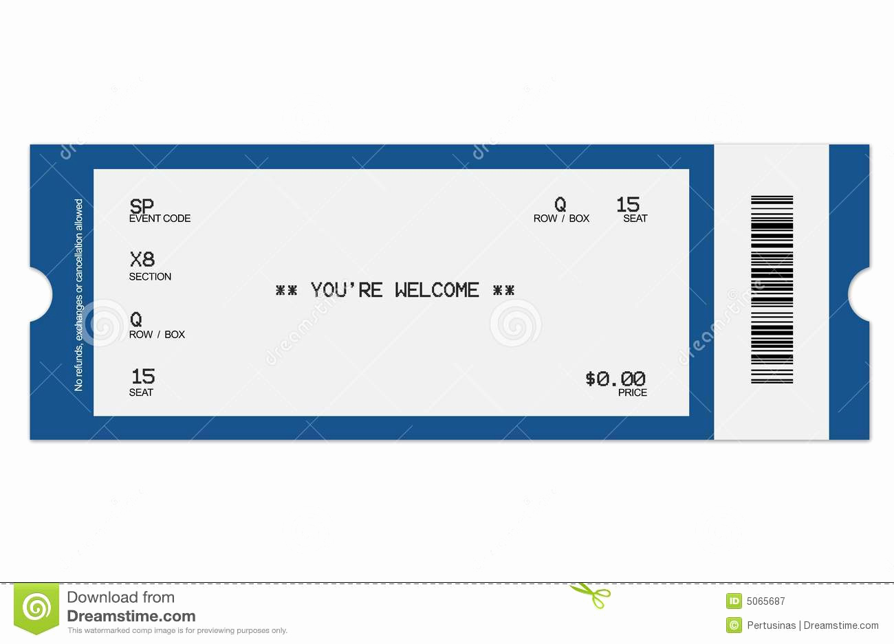 Printable Concert Ticket Template And 8 Best Of Football Ticket Templates Blank Printable