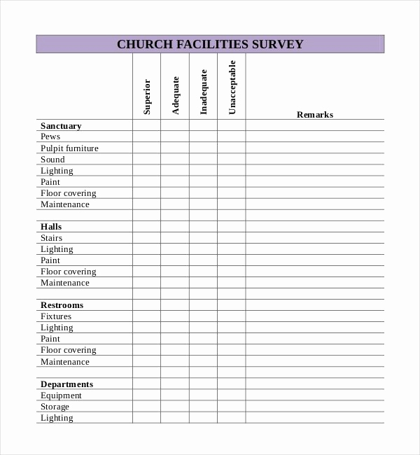 Free Printable Survey Template And 24 Blank Survey Templates ? Pdf Word Excel