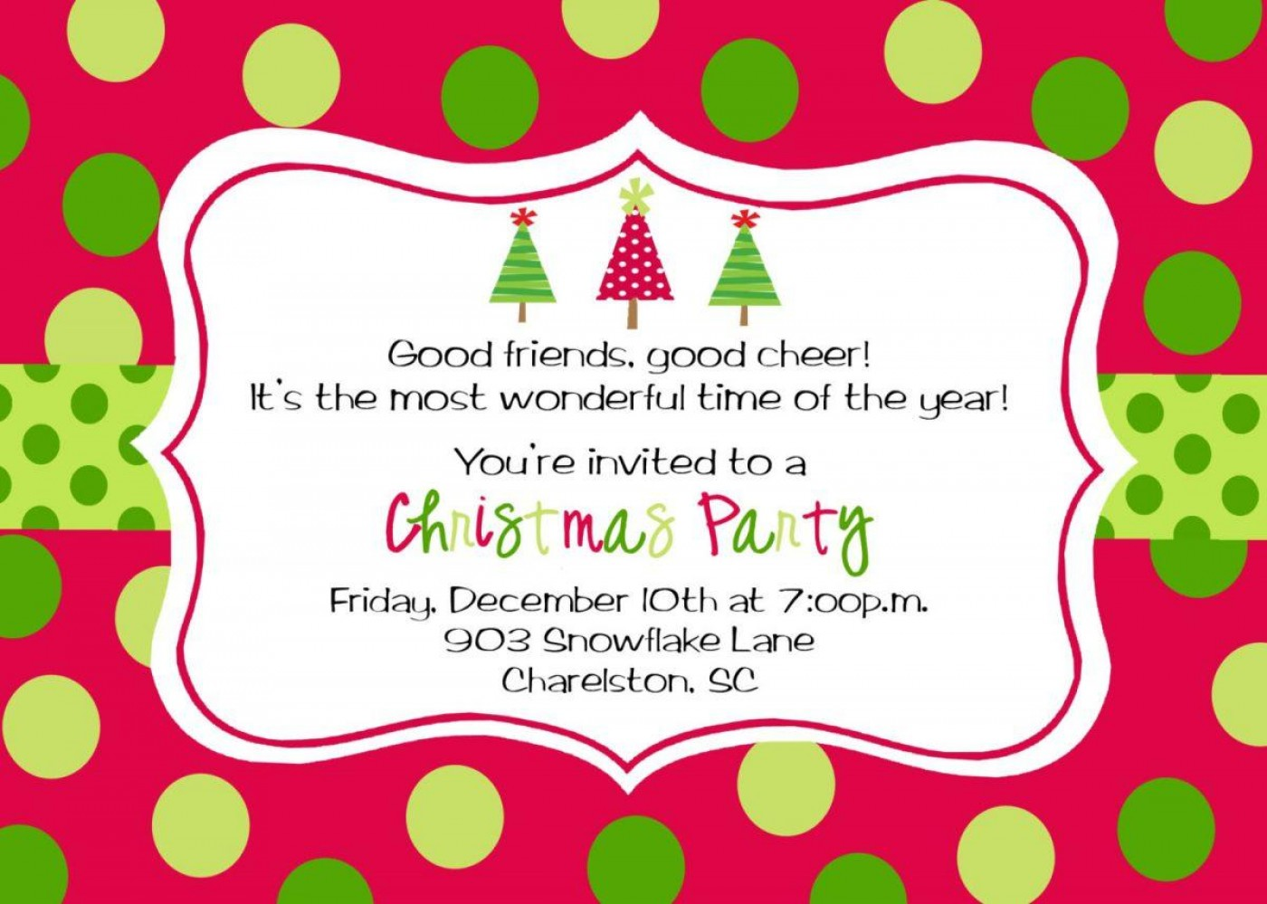 Printable Christmas Party Tickets Templates Free