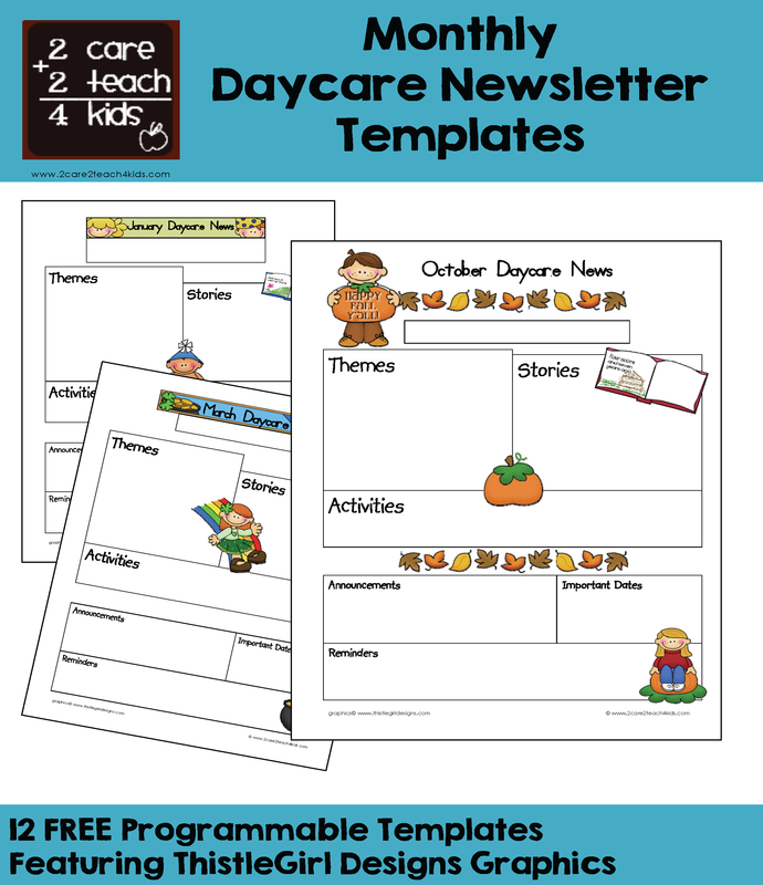 Printable Daycare Newsletter Templates