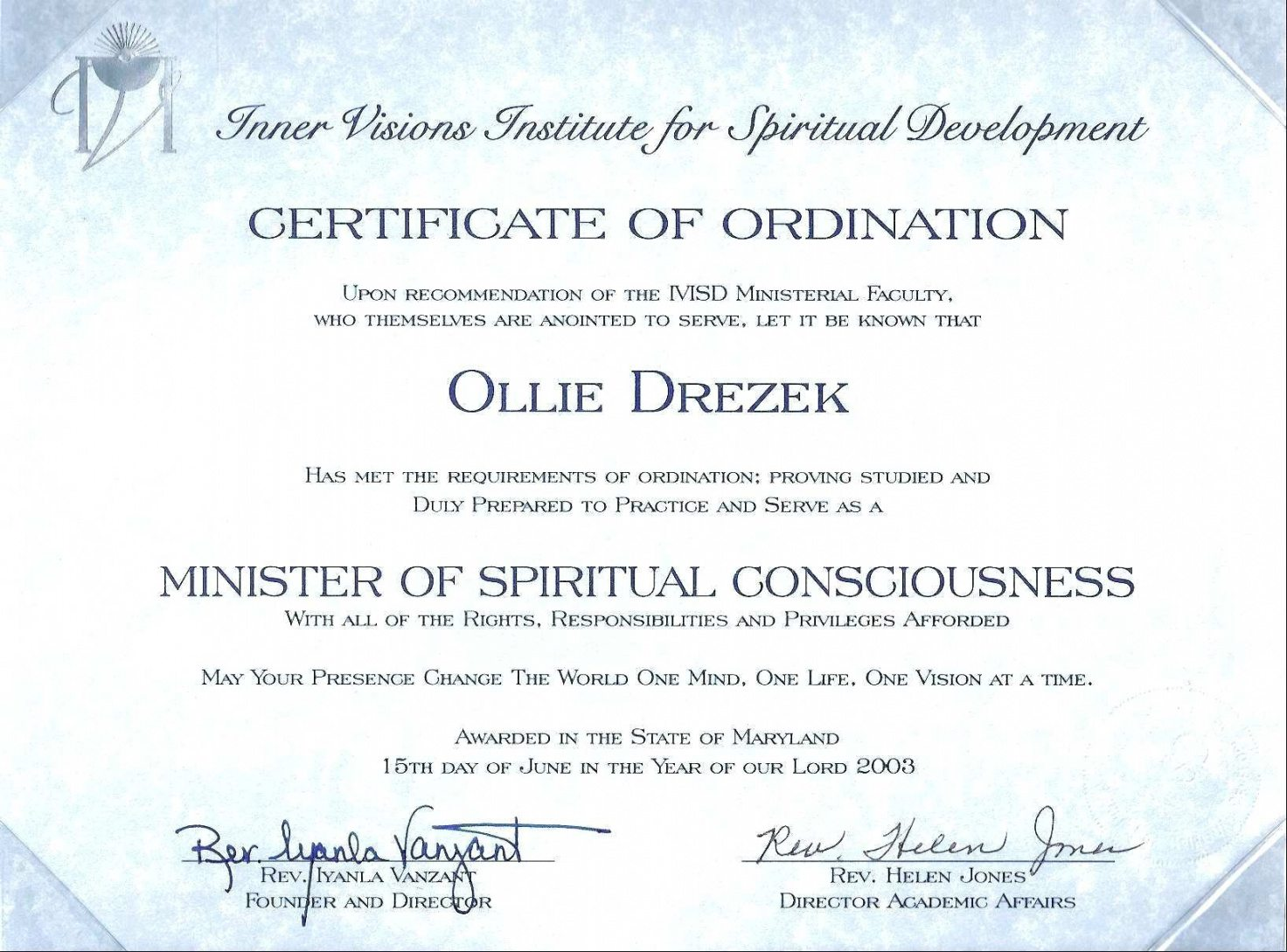 Printable Deacon Ordination Certificate Template