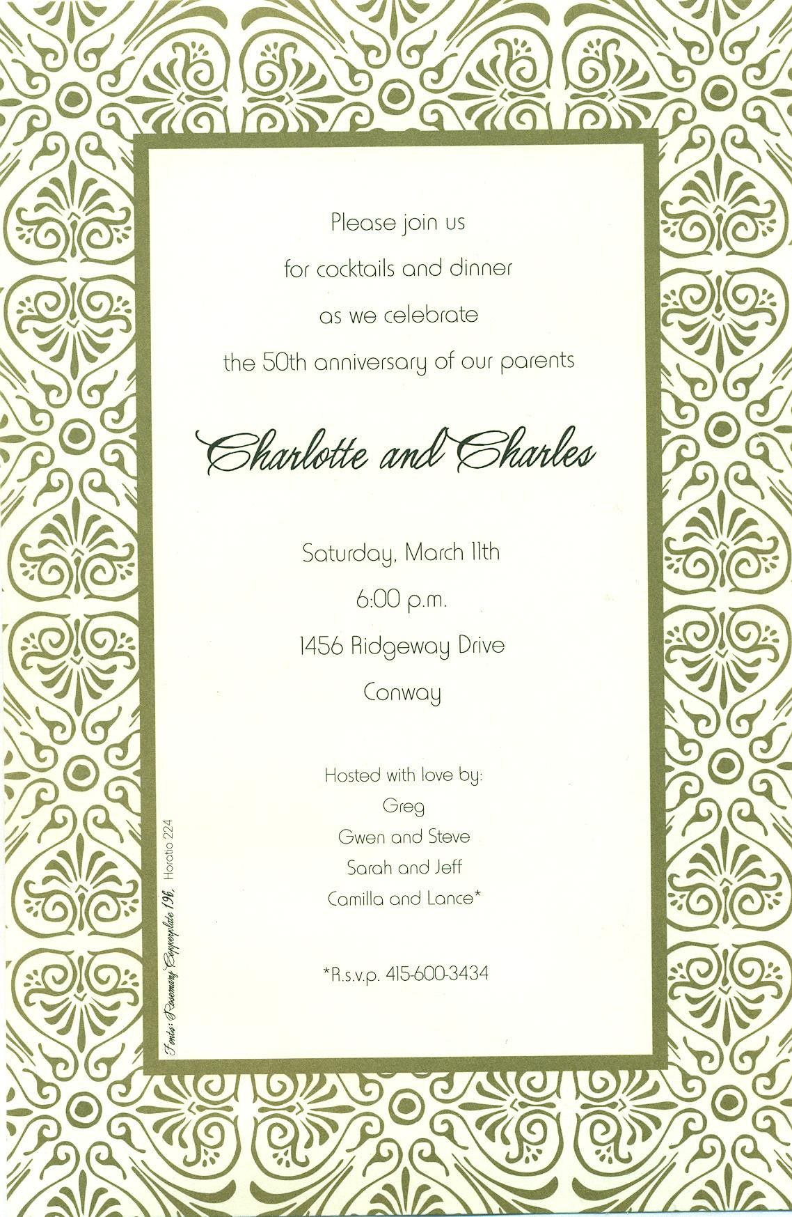 Printable Downloadable Invitation Templates