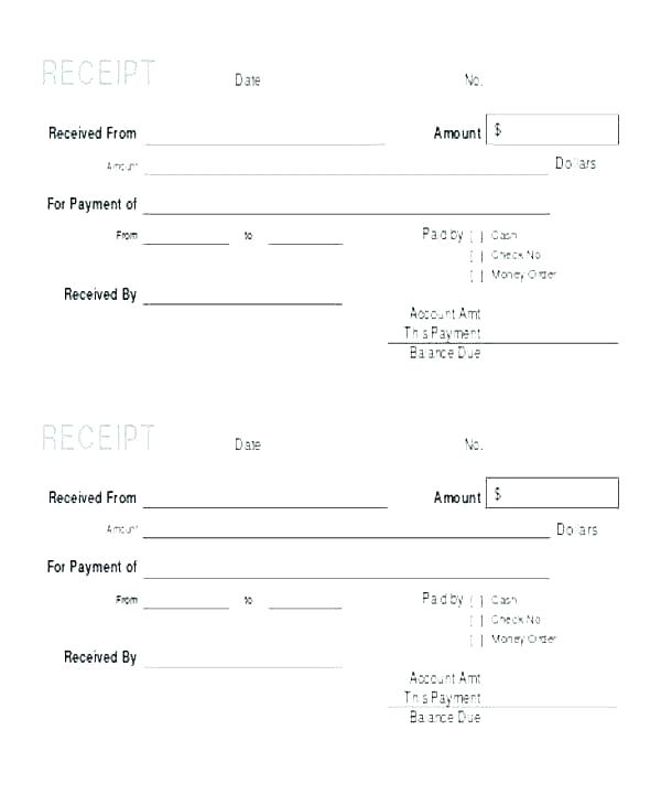 Printable Empty Invoice Template