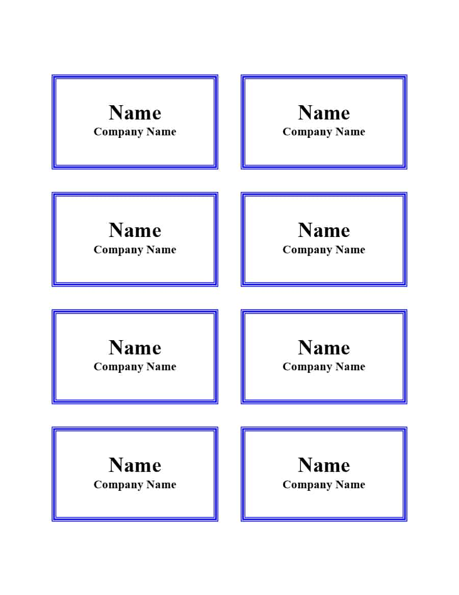 Printable Free Name Badge Template Word