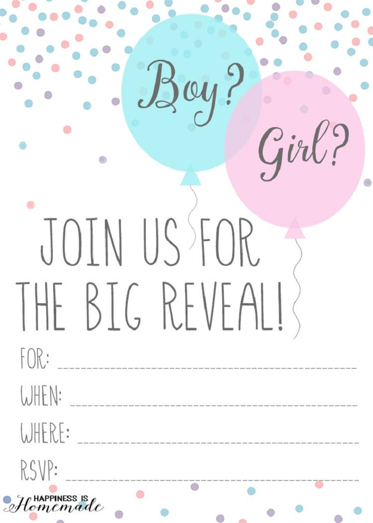 Printable Gender Reveal Templates