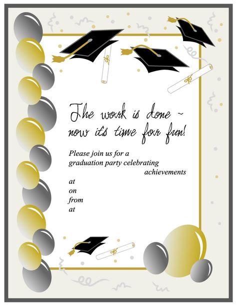 Printable Graduation Invitation Templates Free Download