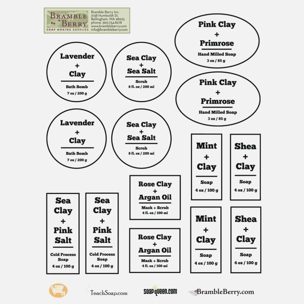 Printable Ingredient Label Template