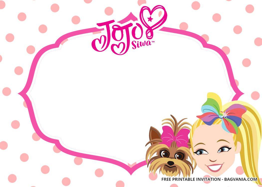 Printable Jojo Siwa Birthday Invitations Templates Free