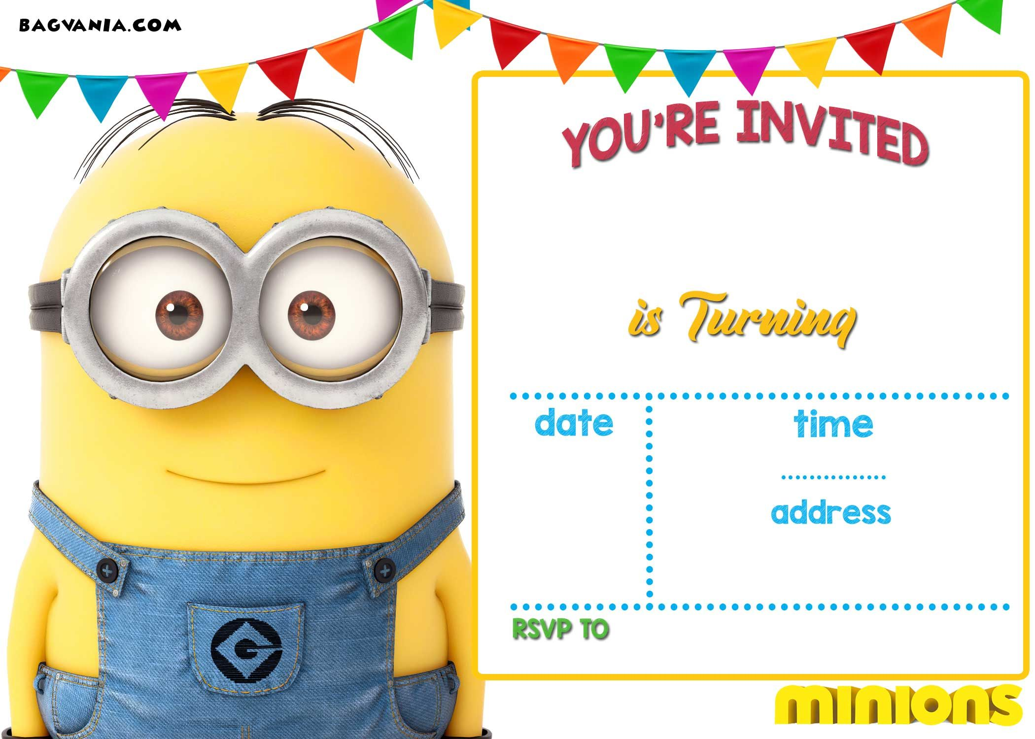 Printable Minion Invitation Template
