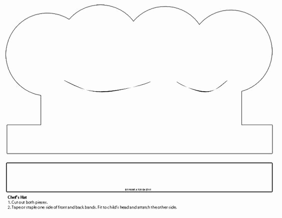 Printable Paper Chef Hat Template Of Sombreros De Chef Papel And Italiano On Pinterest