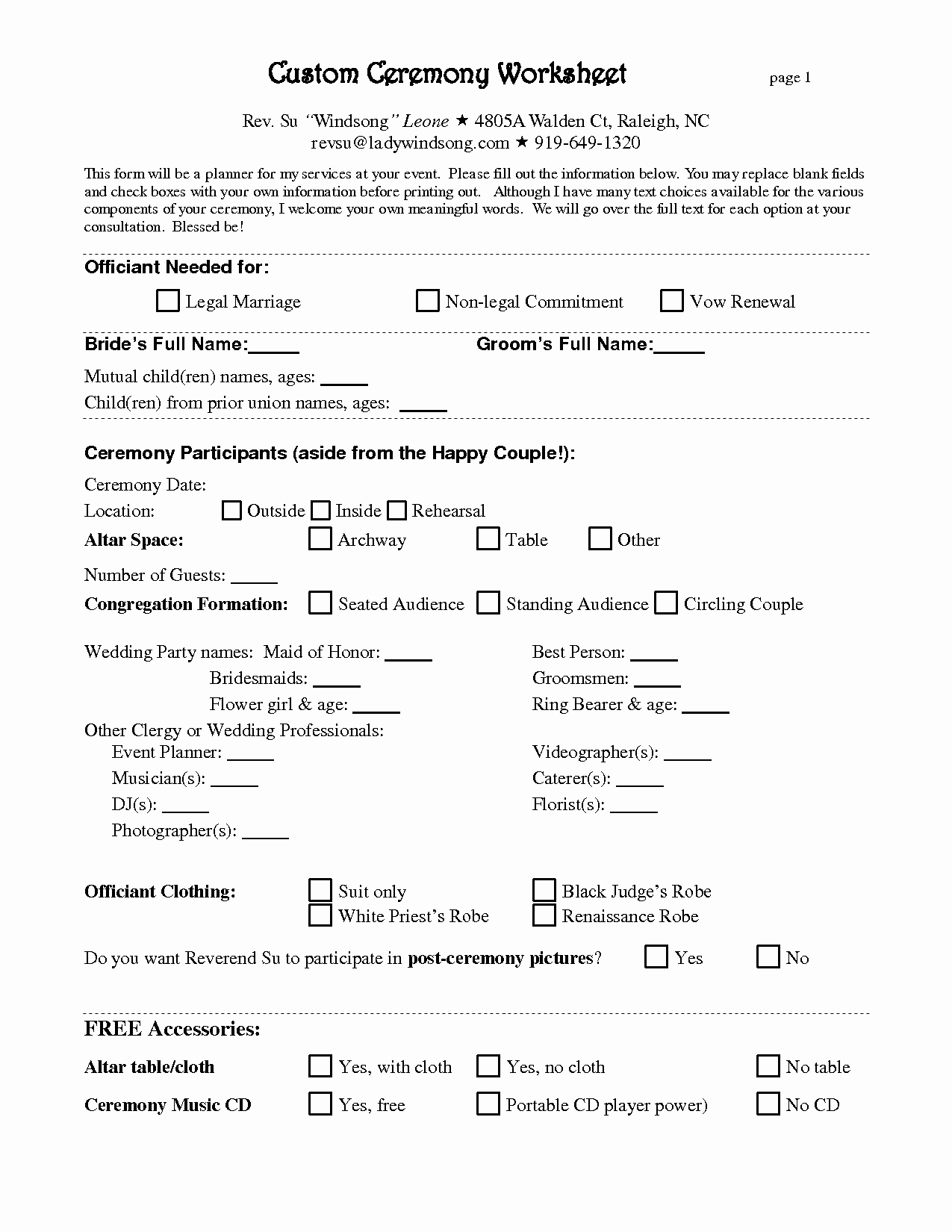 Printable Contract Template Or 7 Best Of Printable Wedding Planner Contract