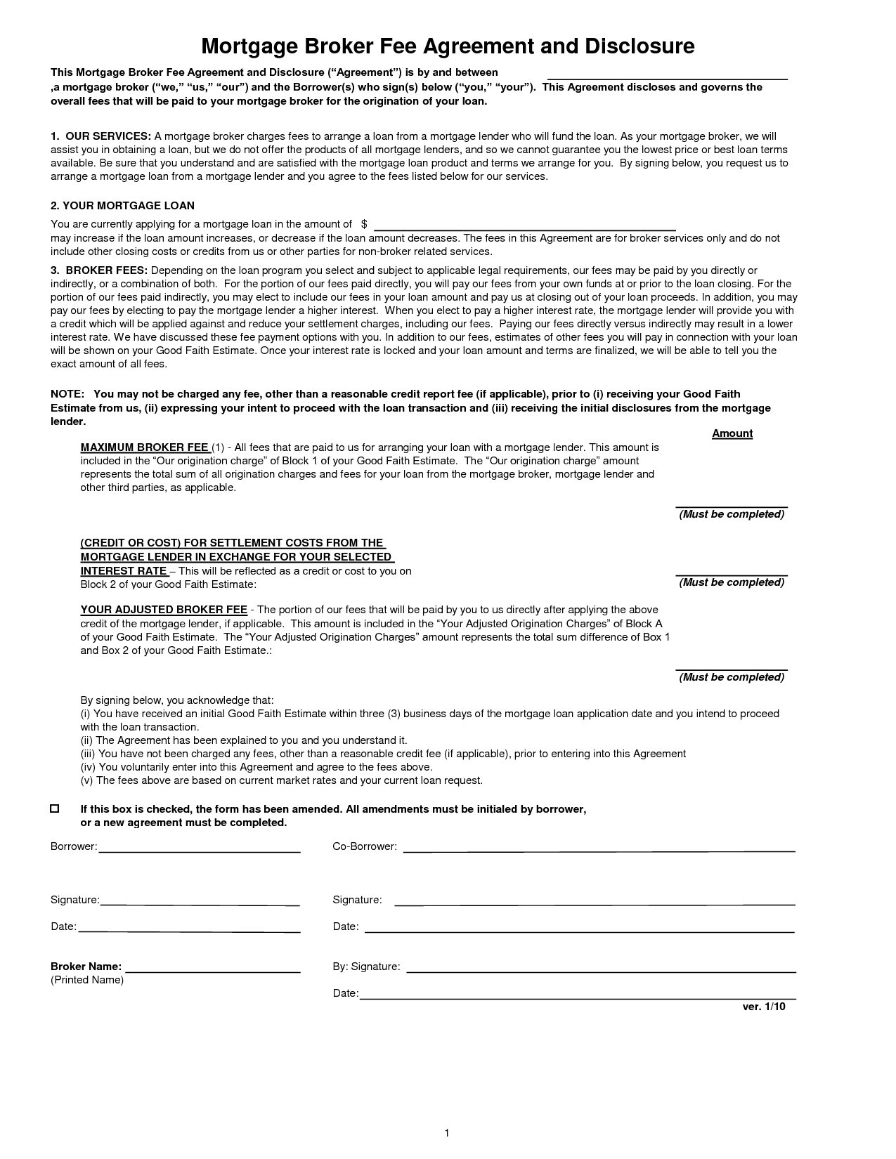 Private Mortgage Agreement Template