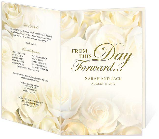 Programs For Weddings Templates
