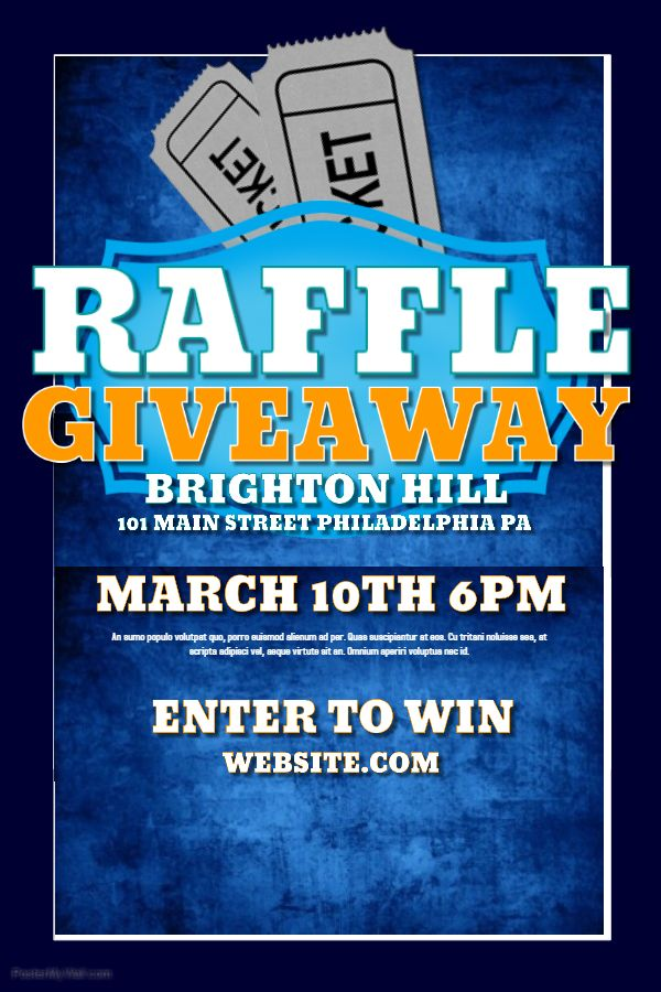 Raffle Flyer Template Free