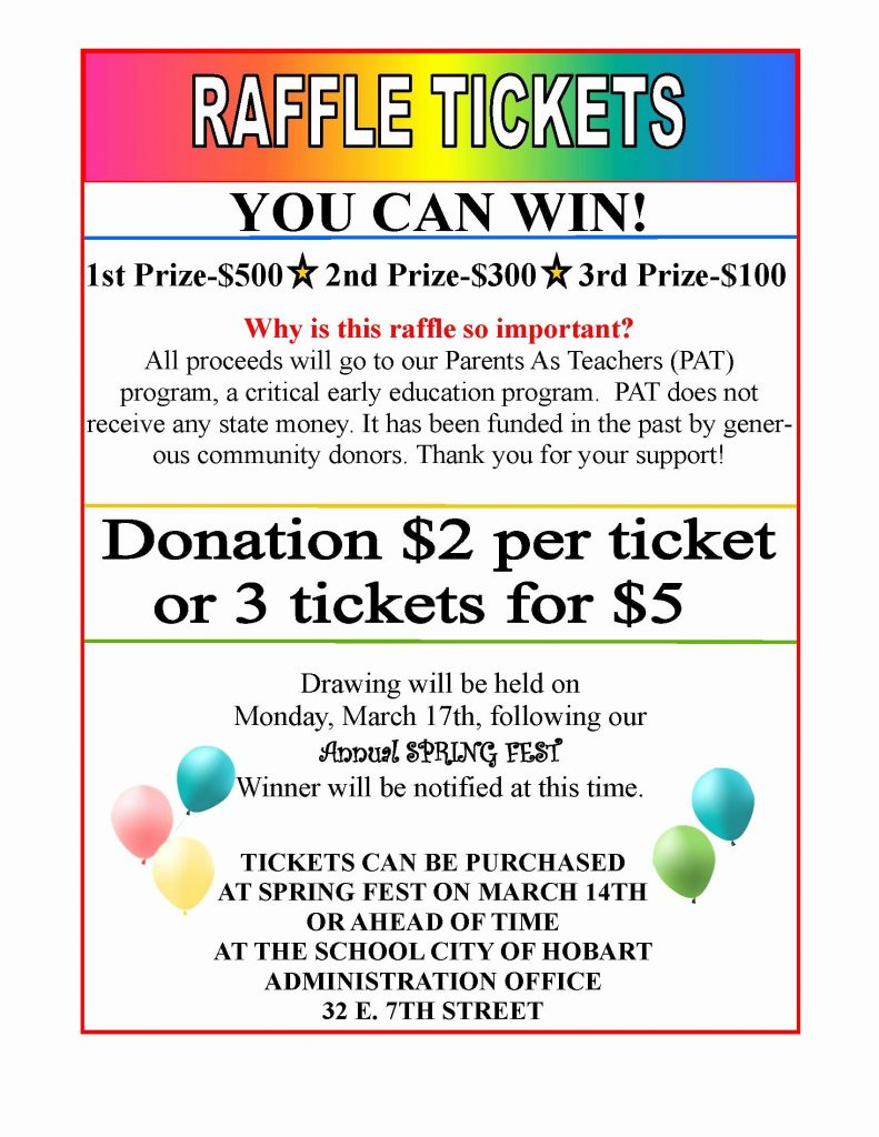 Raffle Ticket Flyer Template Free