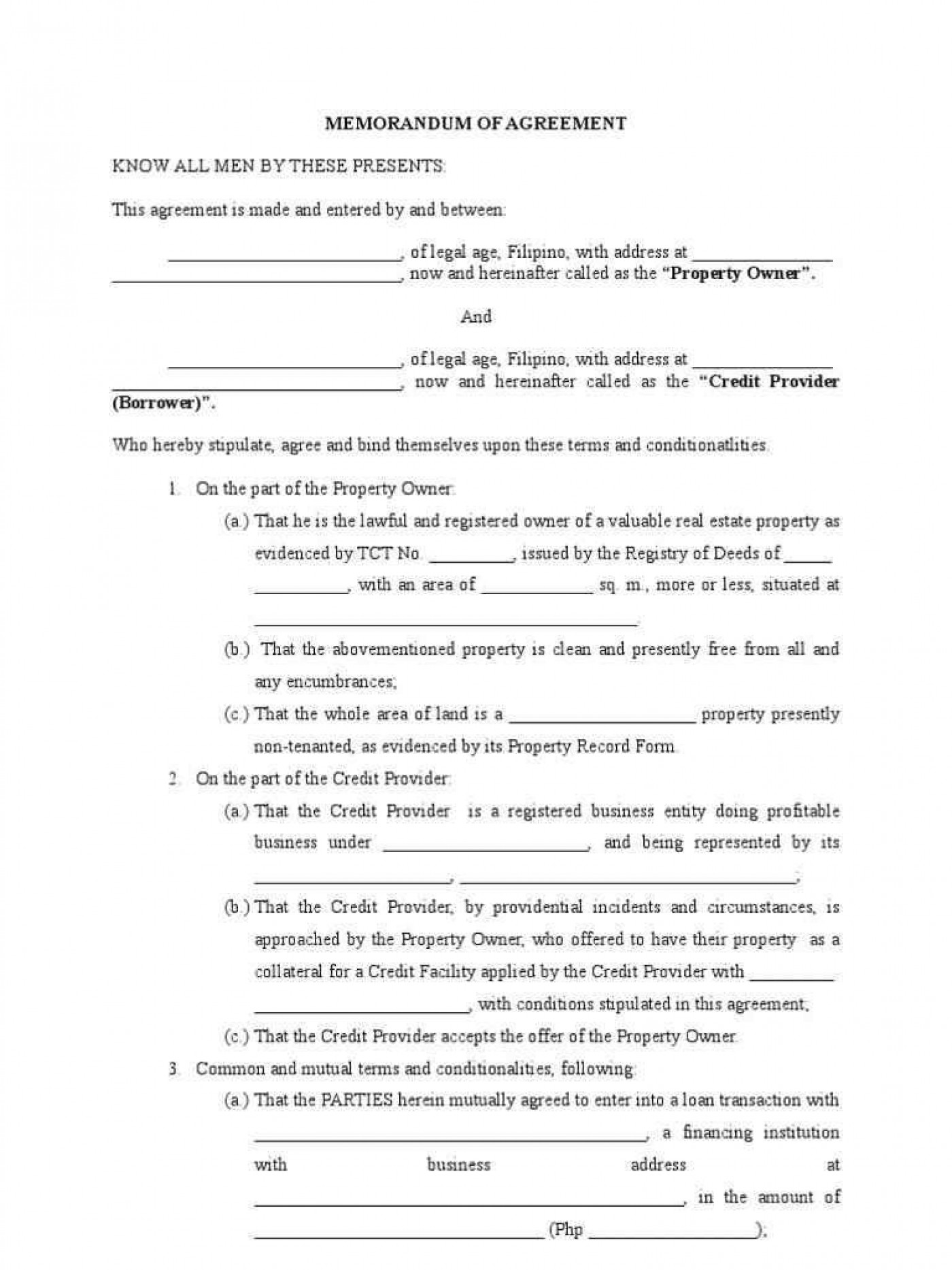 Real Estate Joint Venture Agreement Template