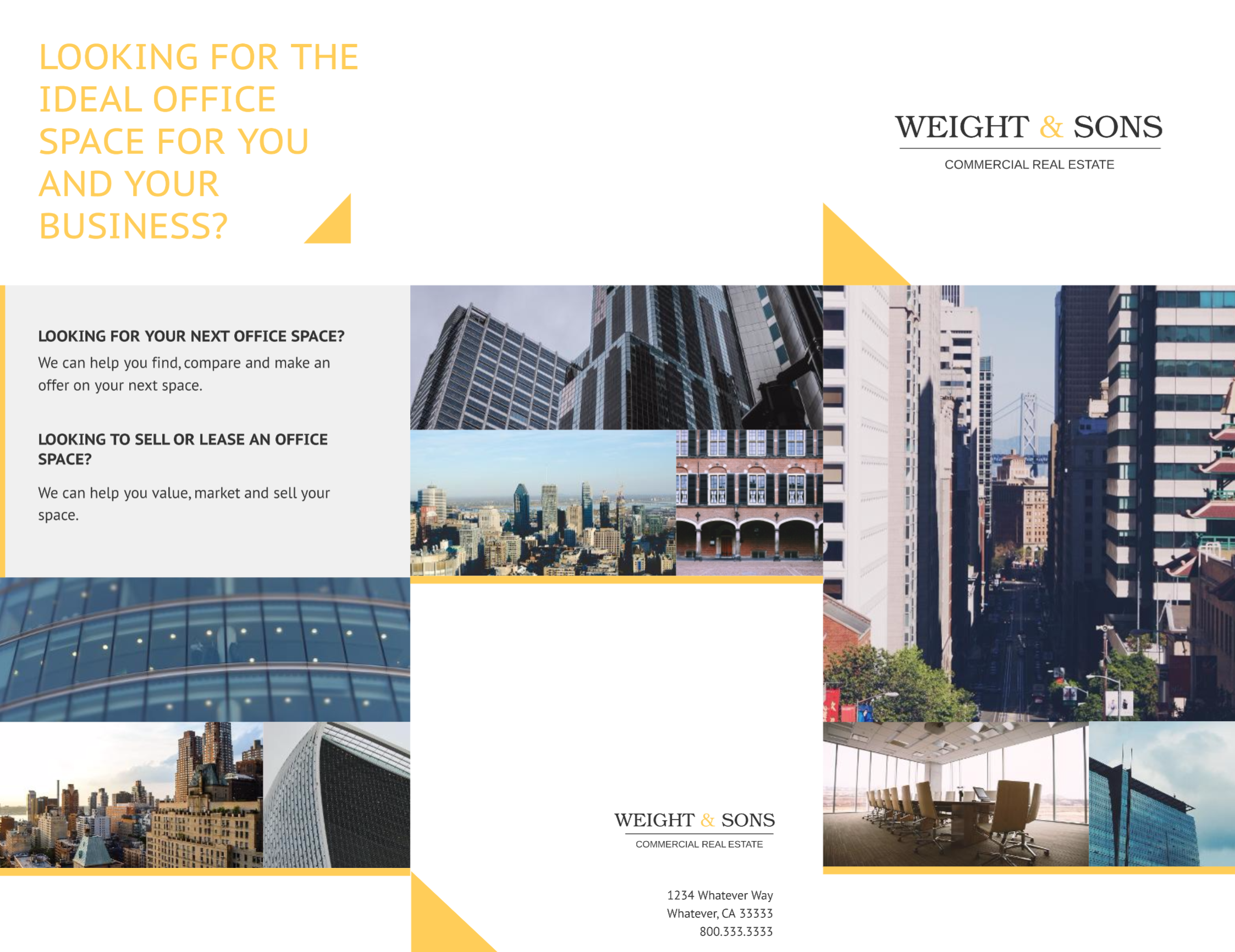 Real Estate Marketing Brochure Templates