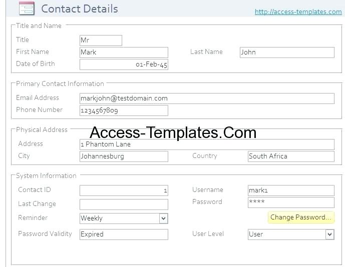 Recruiting Database Template Access