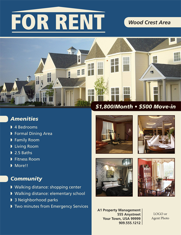 Rental Property Flyer Template