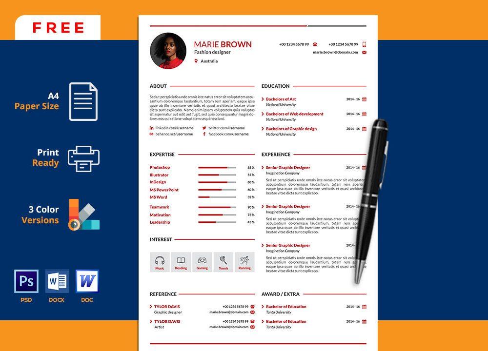 Resume Portfolio Template Word