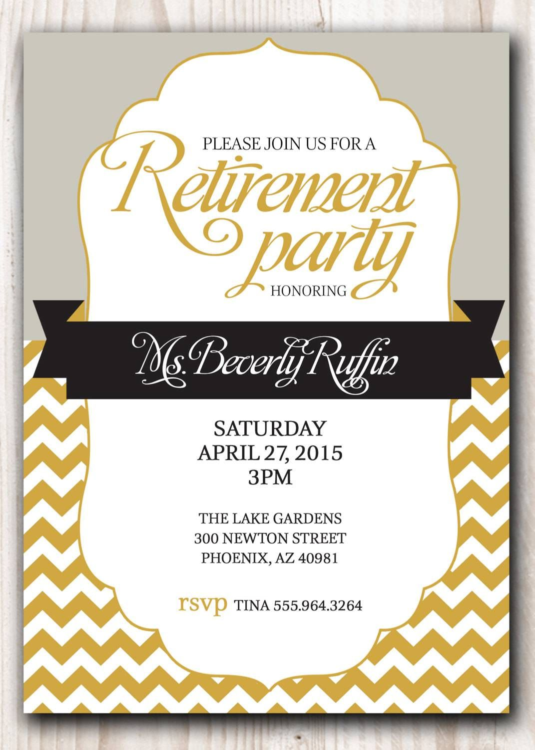 Retirement Party Invitation Template Word Free