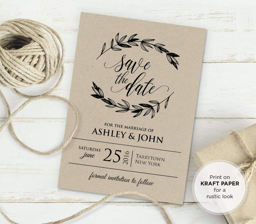 Rustic Vintage Wedding Invitation Templates