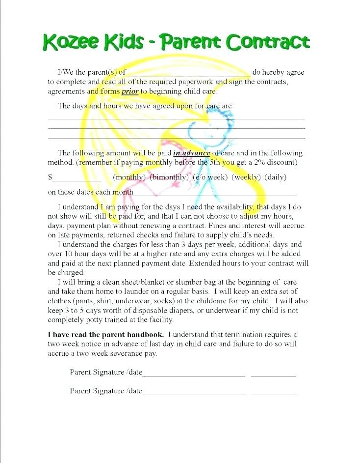 Sample Babysitting Contract Template