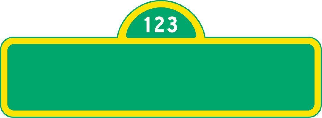 Sesame Street Banner Template