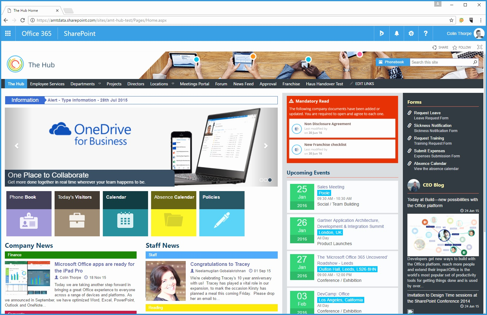 Sharepoint Online Intranet Templates Free Pretty Point Intranet The Hub