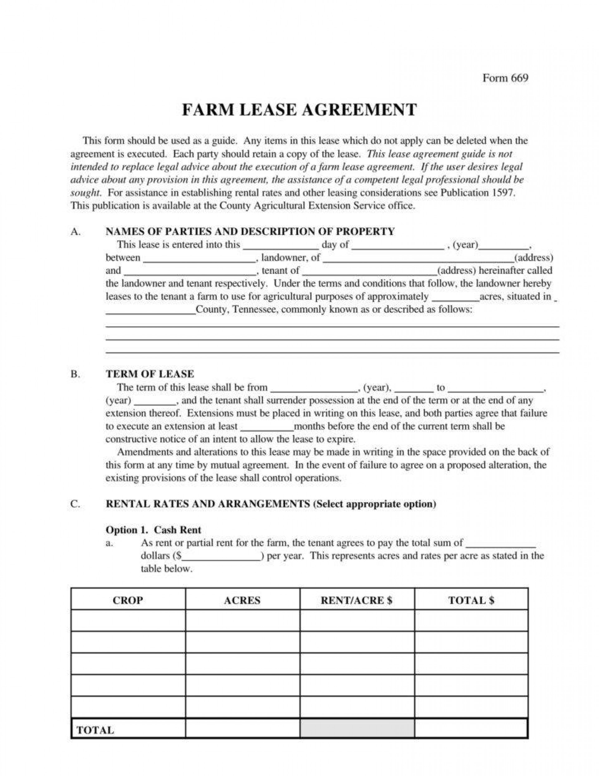 Short Lease Agreement Template South Africa