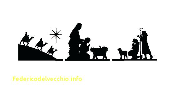 Silhouette Nativity Scene Template
