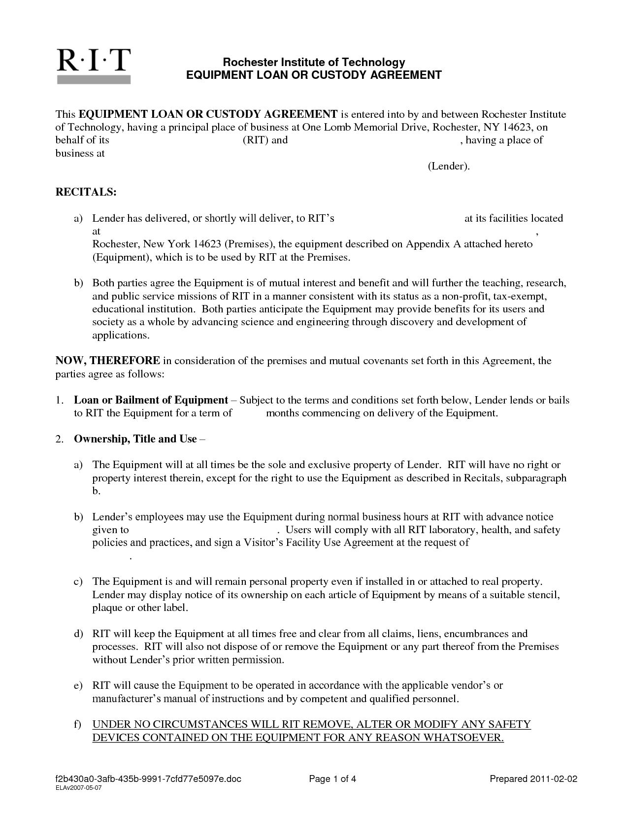 Simple Car Loan Agreement Template