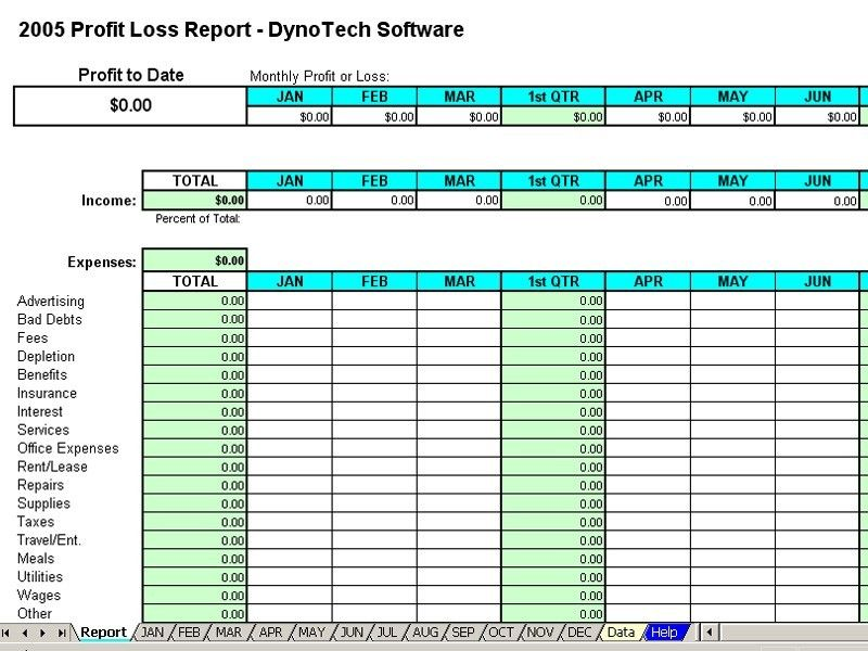 Spreadsheet Monthly Expense Report Template