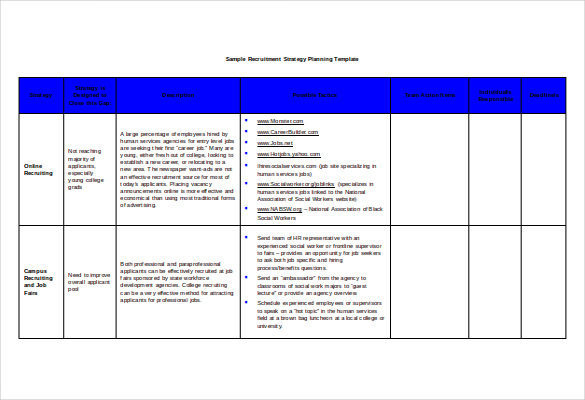 Strategic Recruiting Plan Template