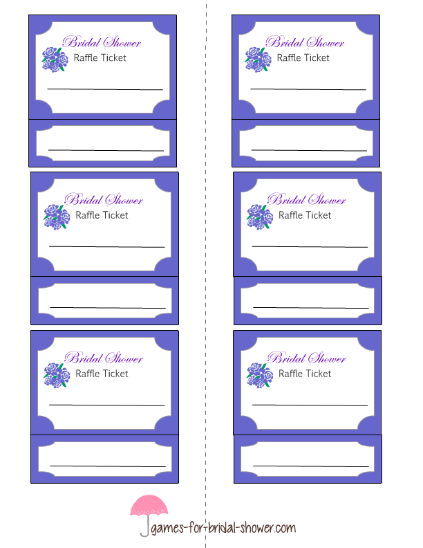 Template Diy Raffle Tickets