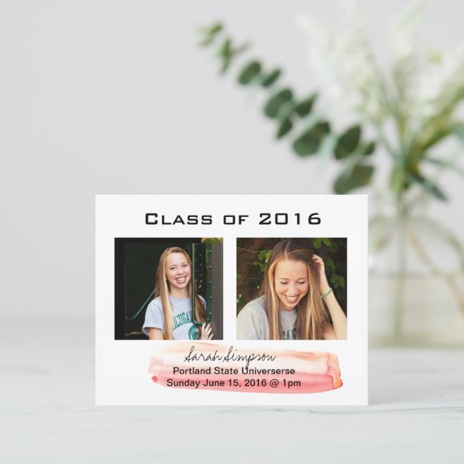 Template Graduation Invite Cards
