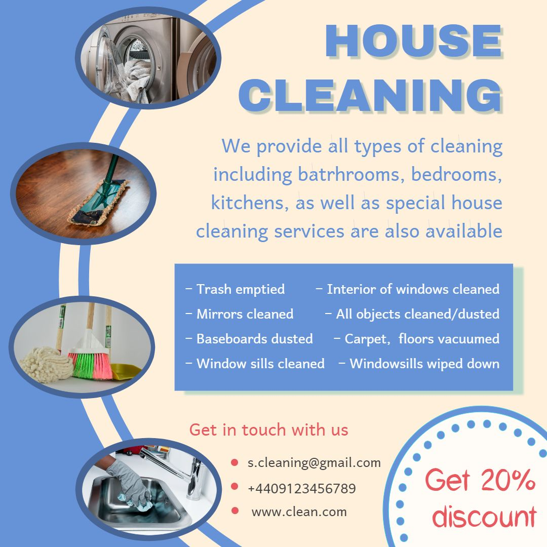 Template House Cleaning Advertisement