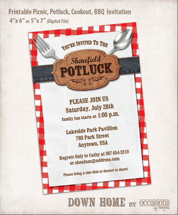 Template Potluck Invitation Email Example