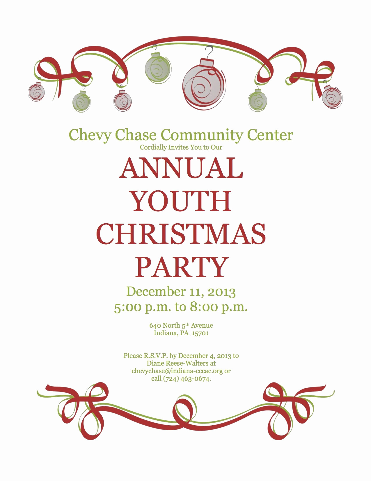 Template Work Christmas Party Invitation Wording