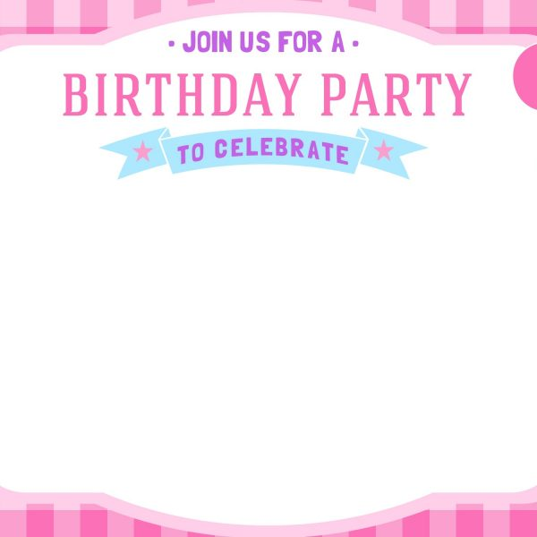 Templates For Birthday Invitation Cards