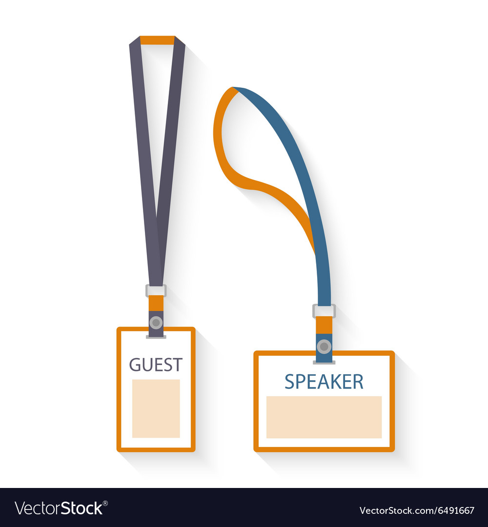 Vector Lanyard Design Template