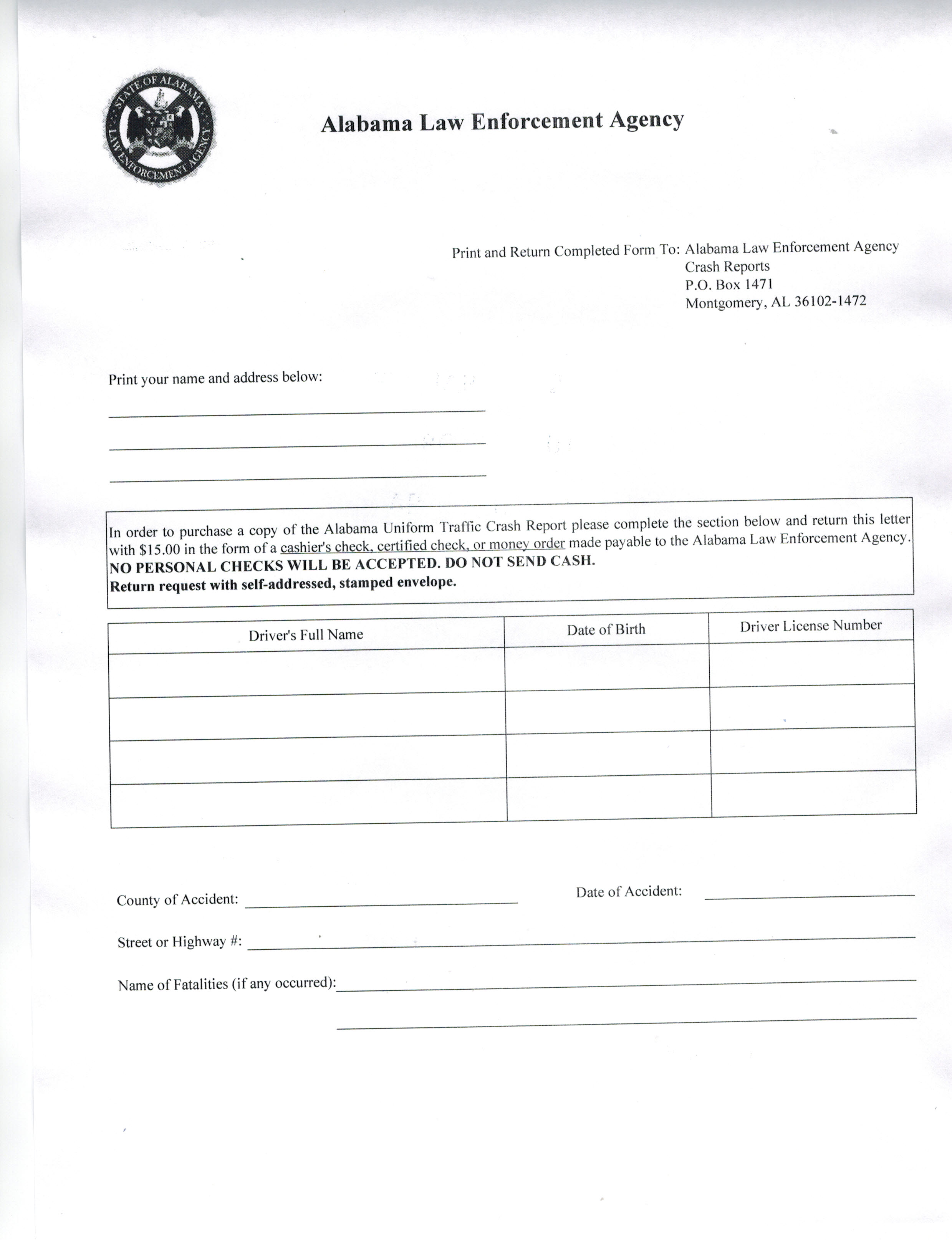 Vehicle Accident Report Form Template Free