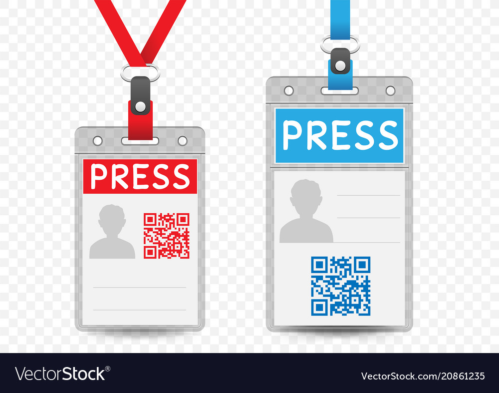 Press Vertical Badge Template